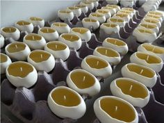 porcelain egg candles {unscented, all natural soy wax}