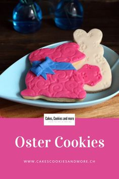 Baking for Easter, recipe for Easter bunny cookies.The Easter cookies are made with Fon . Easter Cookies, Easter Recipes, Diy Food, Cake Cookies, Easter Bunny, Sweets, Baking, Desserts, Easy