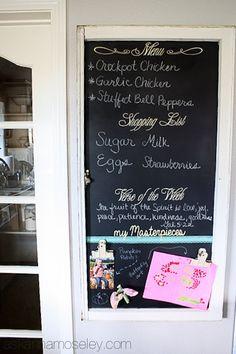 DIY magnetic chalkboard - Ask Anna