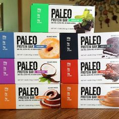 Paleo Protein Bar® 20g Protein (Egg Whites), Low Carb, Gluten Free, No Added Sugar (2g), GMO-Free, Grain Free, Dairy Free, Soy Free, No Sugar Alcohols, Whey Free, Legume Free, & Monk Fruit Sweetened. (Under 160+ Calories) (Curbs Appetite Up to 4 hrs- No Bloating) (100% Paleo) (From 2 Net Carbs) (Soft, Chewy & Delicious) (10 Amazing Flavors) (Sold Online Only As They Are New) (FREE Shipping) www.PaleoBar.com