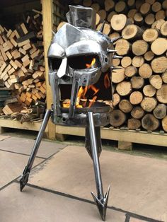 We have selected for you the best Star Wars, Comics ant Earth fire pit ideas made thanks to the creativity of crafters, be inspired and make your own! Fire Pit Base, Copper Fire Pit, Fire Pit Sets, Fire Pit Grill, Metal Fire Pit, Cool Fire Pits, Diy Fire Pit, Outdoor Wood Burner, Wood Pellet Stoves