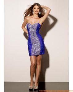 2012 Mini schöne Abendkleider aus Stretchsatin Herzausschnitt mit Perlen