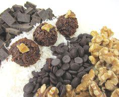 Walnut and Dark Chocolate Coconut Macaroons, Gluten Free at www.lilybloomskitchen.com