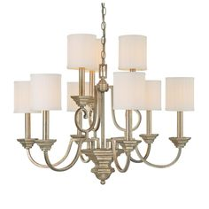 Capital Lighting Fifth Avenue Collection 9-light Winter Gold Chandelier (Metal)