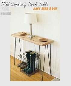 Mid Century Nook Console table any size 149.00 by UrbanWoodGoods, $149.00, Phone table!