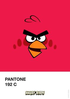 Pantone Angry Birds #Red