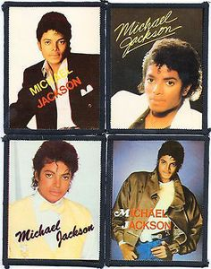 Michael Jackson 4 X Vintage Sew On Cloth Patches - http://www.michael-jackson-memorabilia.co.uk/?p=8923