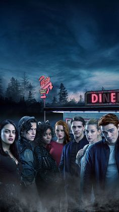 Cole Sprouse with the cast of Riverdale Riverdale Netflix, Riverdale Cw, Riverdale Funny, Riverdale Memes, Riverdale Season 1, Riverdale Cheryl, Riverdale Poster, Riverdale Wallpaper Iphone, Riverdale Veronica