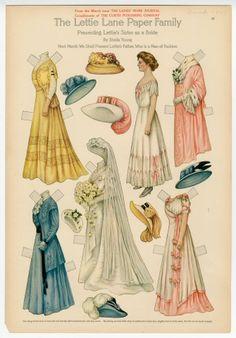 El Lettie Lane, Familia Libro: Presentación de la hermana Lettie como Bride, 1909