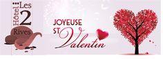 #Séjour romantique pour la #St Valentin à #l'Hôtel les 2 Rives. Une nuit en chambre grand confort, petit déjeuner en chambre, 1/2 bouteille de champagne et des gourmandises de #Chez Damaselles