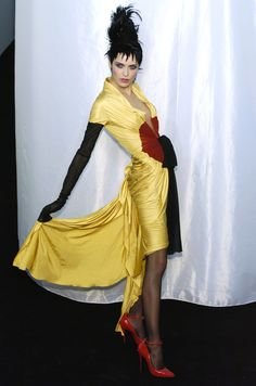 This is a striking bit of fashion   Rie Rasmussen at Jean Paul Gaultier Haute Couture, Spring/Summer 2004