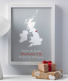 Personalised Treasured Location Print: Something British for your loved one this Valentine's Day <3