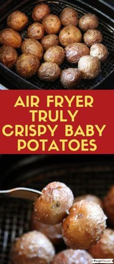 air fryer recipes Air Fryer Truly Crispy Baby Potatoes cooked without any precooking in the air fryer. If you love baby potatoes then you will love air fryer baby potatoes. Air Fryer Recipes Breakfast, Air Fryer Dinner Recipes, Air Fryer Oven Recipes, Power Air Fryer Recipes, Air Fryer Recipes Appetizers, Breakfast Meals, Recipes Dinner, Baby Potato Recipes, Air Fryer Recipes Potatoes