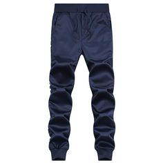 Autumn Men Pants Slim Fit Casual Long Pant Sportswear Cotton Mens Loose Plus Size Navy Season Sweat High Street Trousers Pants #Affiliate