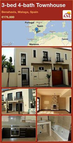 3-bed 4-bath Townhouse in Benahavis, Malaga, Spain ►€175,000 #PropertyForSaleInSpain
