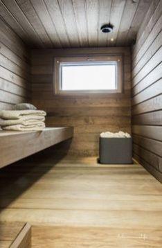 Sauna on lämpökäsiteltyä Haapaa. Kiuas on tulikiven mallistosta. Diy Sauna, Electric Sauna Heater, Modern Saunas, Sauna Wellness, Piscina Spa, Portable Sauna, Sauna Design, Outdoor Sauna, Finnish Sauna