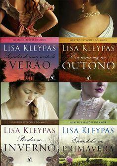 Românticos e Eróticos  Book: Lisa Kleypas - Quatro Estações do Amor #0.5 a #5