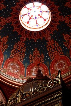 Dome in the Great Synagogue of Budapest #Hungary Wish we could have seen this!