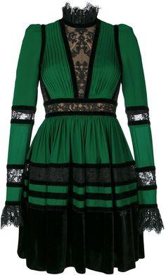 Elie Saab lace panelled dress