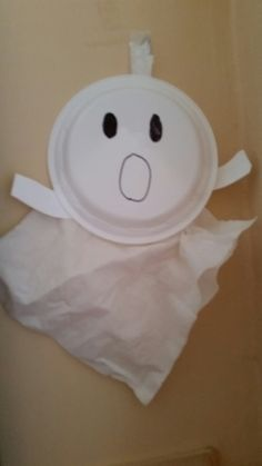 Friendly ghost from plastic plate tissue
