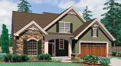 Landon House Plan - 4738 45 feet wide AND has a 3 car garage! Unheard of!!!!