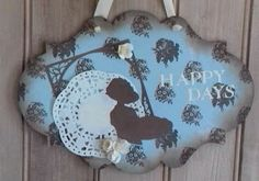 Home is where the craft is.....: How to create a shabby chic wall hanging - Robins Nest Design team