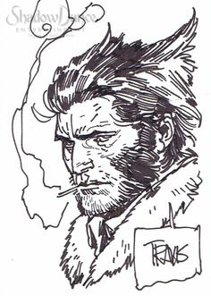 Wolverine/Logan sketch card by Travis Charest Comic Art