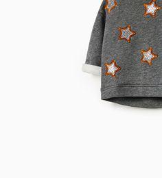 SEQUIN STARS SWEATSHIRT