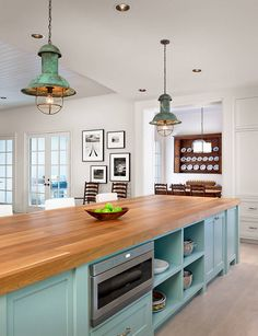Kitchen Island Lighting. Rustic Vintage Ageded Lighting. Kitchen Island…