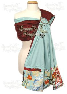 Starts at $15!!!  NEW SweetPea Ring Sling Baby Infant Carrier Wrap Reversible Made in USA Asian  #SweetPeaRingSling