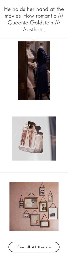 """""""He holds her hand at the movies. How romantic /// Queenie Goldstein /// Aesthetic"""" by tangled-up-in-thoughts ❤ liked on Polyvore featuring backgrounds, pictures, images, photos, pics, fillers, pink, filler, home and home decor"""