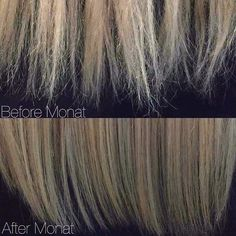 This is exactly how my ends use to look! Split ends don't stand a chance when you're using  #MONAT! #WerkIt #Healthy #Hair #WerkYourHair #DoWerk