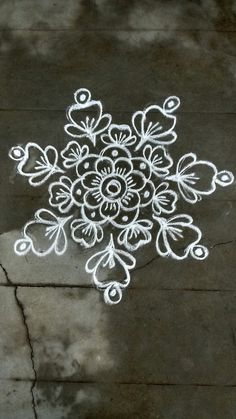 Rangoli Kolam Designs on Happy Shappy in 2019 Simple Rangoli Designs Images, Rangoli Designs Latest, Rangoli Designs Flower, Rangoli Border Designs, Rangoli Patterns, Rangoli Ideas, Rangoli Designs With Dots, Rangoli Designs Diwali, Kolam Rangoli