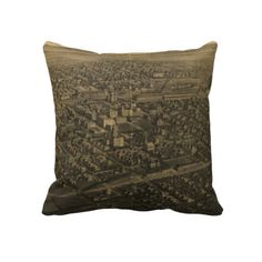 Vintage Pictorial Map of Billings Montana (1904) Pillow from Zazzle.com $62.40
