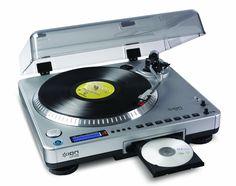 ION Audio LP2CD | Vinyl Plattenspieler / Turntable und USB Digital Encoder mit eingebautem CD Brenner - inkl. Converter Software (MAC/PC): Amazon.de: Musikinstrumente