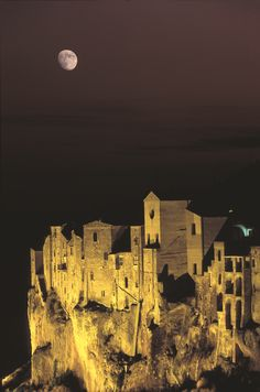 Magical Nighttime. Pitigliano, Province of Grosseto, Tuscany, Italy