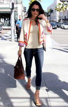 Retail therapy: Bethenny Frankel indulged in some retail therapy in Beverly Hills on Friday