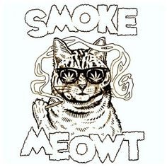 Gift for my stoner friends! super washed out hand tye dyed og smoke meowt shirt. the shirt that gets you high. Marijuana Art, Medical Cannabis, Cannabis Oil, Weed Humor, Weed Jokes, Stoner Art, Weed Art, Puff And Pass, Colors