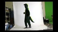 Ryan Feng being adorable dressed as a dinosaur