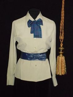 184a76cb126087 USA S Silk Blouse Ann Taylor Sage Green L S and Vtg Ginnie Johansen Silk Tie