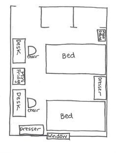 Room Diagram pictures of dorm room layouts | room layout | college life