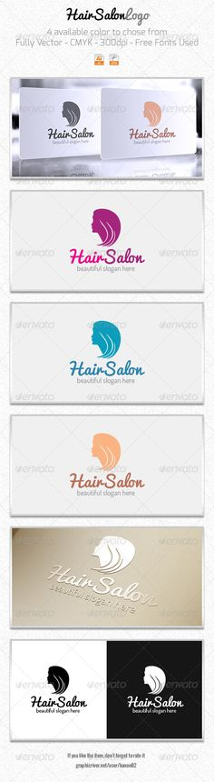 Hair Style Logo — Vector EPS #girls #face • Available here → https://graphicriver.net/item/hair-style-logo/5968331?ref=pxcr