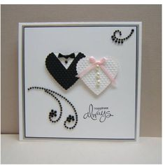 5 Simple but Gorgeous Handmade Wedding Cards Ideas- A perfect wedding can be more memorable when it is attended by families and friends or guests by common meaning. So, if you want a perfect wedding, yo. Wedding Cards Handmade, Greeting Cards Handmade, Handmade Engagement Cards, Simple Wedding Cards, Wedding Shower Cards, Love Cards, Diy Cards, Wedding Anniversary Cards, Handmade Anniversary Cards