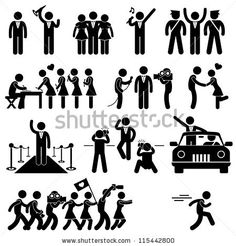 Idol Celebrity VIP VVIP Politician Singer Actor Movie Star Fans Stick Figure Pictogram Icon by Leremy, via ShutterStock