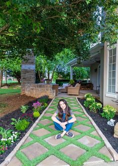 How To Lay A Paver Walkway With Grass In Between Paver Sand, Paver Stones, Paver Walkway, Diy Paver, Hydrangea Bush, Hydrangea Not Blooming, Home Depot Projects, Wood Projects, Black Mulch