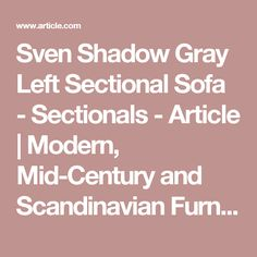 Sven Shadow Gray Left Sectional Sofa - Sectionals - Article   Modern, Mid-Century and Scandinavian Furniture