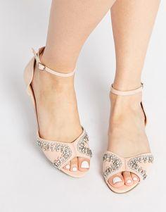 Image 1 ofASOS JEMROCK Embellished Two Part Sandals