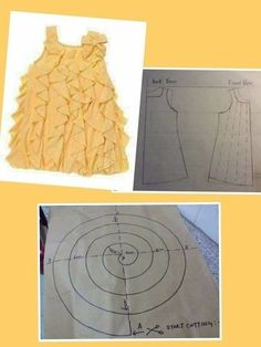 Frock Patterns, Baby Girl Dress Patterns, Dress Sewing Patterns, Doll Clothes Patterns, Little Girl Dresses, Clothing Patterns, Girls Frock Design, Baby Dress Design, Kids Frocks Design