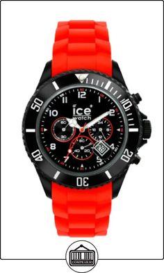 Ice-Watch CH.BR.B.S.10 - Reloj analógico de caballero de cuarzo con correa de silicona roja - sumergible a 50 metros de  ✿ Relojes para hombre - (Gama media/alta) ✿