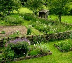 Medieval garden.